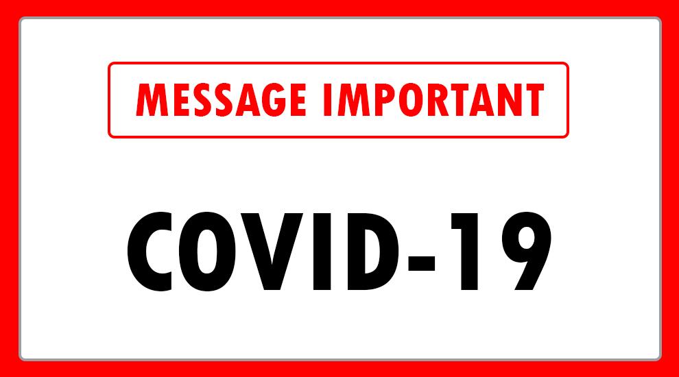 Coronavirus: Fermeture du club